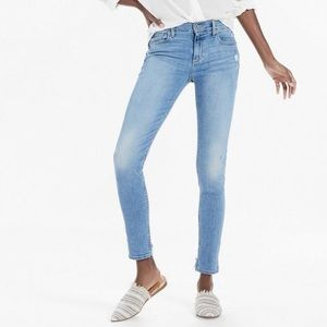 Brooke Mid Rise Legging Jean With Back Chew